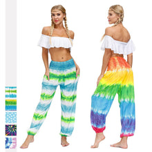 Load image into Gallery viewer, Summer bohemian sports fitness yoga pants-1