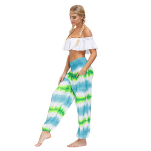 Summer bohemian sports fitness yoga pants-1