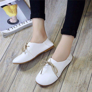Pu Pure Color Casual Slip On Comfort Shoes For Women