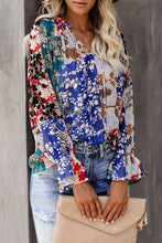 Load image into Gallery viewer, Summer Casual Loose Printing Long-sleeved V-neck Shirt