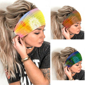 Boho Style Elastic Sports Dandelion Tie Dye Hair Band