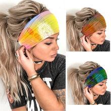 Load image into Gallery viewer, Boho Style Elastic Sports Dandelion Tie Dye Hair Band