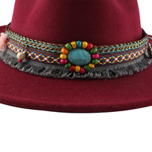 Load image into Gallery viewer, Retro Ethnic Style Flat-edge Jazz Woolen Top Hat