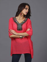 Load image into Gallery viewer, Pretty Bohemia Half Sleeve V Neck Embroidery Blouse Tops