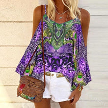 Load image into Gallery viewer, Retro Ethnic Vest Color Loose Blouse