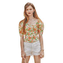 Load image into Gallery viewer, Summer Retro French Slimming Belly Waist Top T-shirt