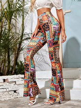Load image into Gallery viewer, Women's Knitted Retro-Print Flared Pants