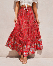 Load image into Gallery viewer, New Hollow Lace Stitching Positioning Printing Oversized Skirt