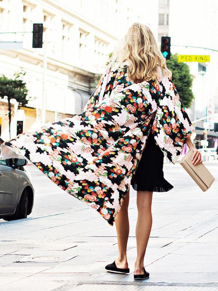 Bohemian Floral Printed Cover-up Outwear