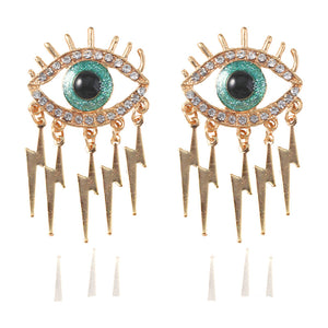 Fashion Exaggerated Personality Creative Diamond Eye Earrings