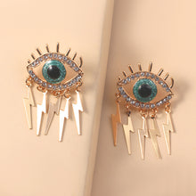 Load image into Gallery viewer, Fashion Exaggerated Personality Creative Diamond Eye Earrings