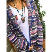 Load image into Gallery viewer, Women's Clothing Autumn And Winter New Printed Cardigan Long-sleeved Sweater