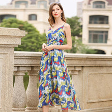 Load image into Gallery viewer, Printed Spaghetti Strap Beach Dress