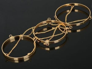 Retro exaggerated three-ring chain arm chain bracelet bracelet jewelry