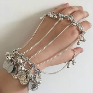 Bohemia style statement handmade Bell coin bracelet  for her