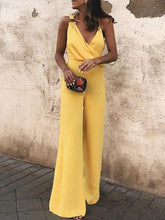 Load image into Gallery viewer, Summer Elegant Sleeveless V-neck Solid Color Jumpsuit