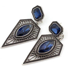 Load image into Gallery viewer, Bohemian Vintage Ethnic Earrings Triangle Water Drops Gemstone Earrings