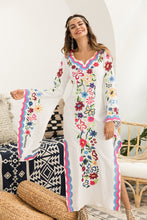 Load image into Gallery viewer, Fairy Long Big Sleeve Embroidered Boho Maxi Dress