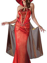 Load image into Gallery viewer, Red Sexy Halloween Party Maxi Dress