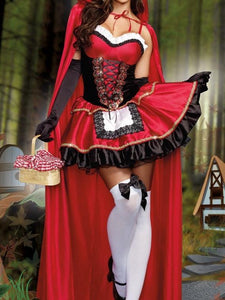 Red Halloween Cosplay Party Dress