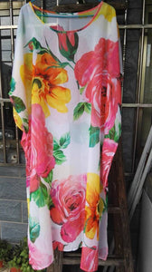 Printed Loose Casual Beach Maxi Dress