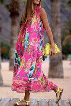 Load image into Gallery viewer, Printed Chiffon Loose Boho Beach Maxi Dress