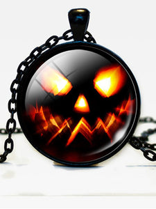 Halloween Pumpkin Necklace Accessories