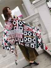 Load image into Gallery viewer, Ethnic Autumn Bohemian Long Geometric Print Scarf