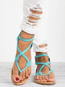 2018 Summer Bandage Beach Flat Sandals For Women