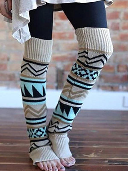 Bohemia Knitted Over Knee Long Leg Warmers