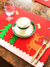 Load image into Gallery viewer, Christmas Snowman Snowflake Holiday Table Mat
