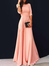 Load image into Gallery viewer, Pretty Pink Three Quarter Sleeve Maxi Dress