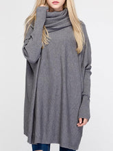 Load image into Gallery viewer, Pure Color Turtleneck Long Sleeve Loose Sweaters For Women