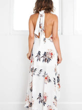 Load image into Gallery viewer, Sexy Sleeveless High Collar Hi-Lo Style Bohemia Maxi Dress