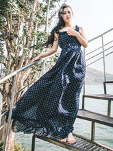 Load image into Gallery viewer, Retro Chiffon Printed Spaghetti-neck Backless Floor Maxi Dress