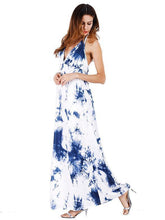 Load image into Gallery viewer, Spaghetti-neck Halterneck Backless Maxi Dress
