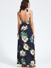 Load image into Gallery viewer, Bohemia Floral Halterneck Backless Sleeveless Maxi Dress