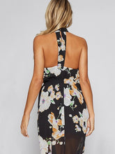 Load image into Gallery viewer, Floral Halterneck Split-front Backless Bohemia Maxi Dress