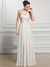 Load image into Gallery viewer, Classical White Lace Sleeveless Maxi Dress Evening Dress
