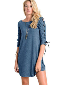Split-joint Asymmetric Mini Dress