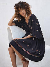 Load image into Gallery viewer, Bohemia Embroidered Loose Mini Dress