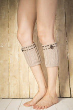 Load image into Gallery viewer, Boot cuff thick short-sleeved thick thick bamboo knit wool yarn socks - 6