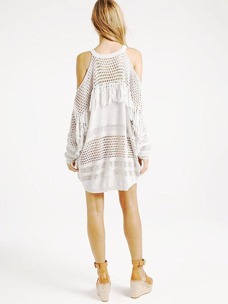 Tasseled Knitting Cover-Ups Swimwear