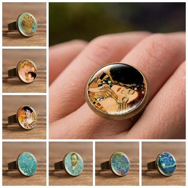 Oil Painting Style Ring