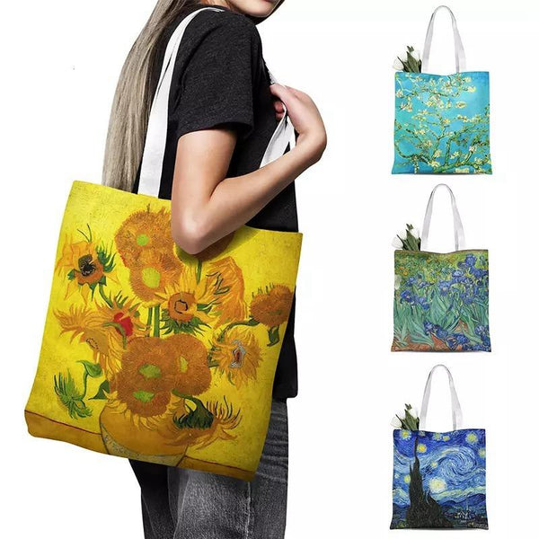 Oil Painting Canvas Tote Bag