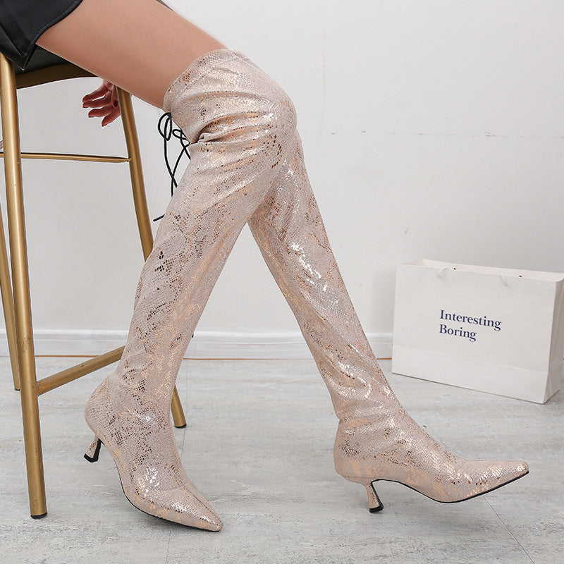 Pointed Fashion Boots High Heel Sleeve Boots