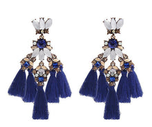 Load image into Gallery viewer, 1 pair tassel earring make statement fashion fringed Bohemia jewelry for party