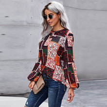 Load image into Gallery viewer, Spring and Autumn New Pullover Long Sleeve Top Women's Versatile Color Loose Large Size Boho T-shirt