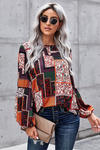 Spring and Autumn New Pullover Long Sleeve Top Women's Versatile Color Loose Large Size Boho T-shirt