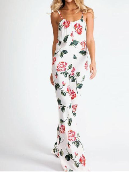 FLORAL JUMPSUIT WITH SPAGHETTI STRAPS